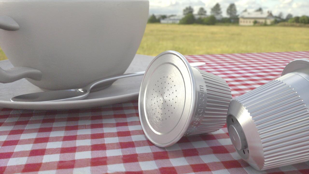 Kaffeekapseln mit Octane-Renderer