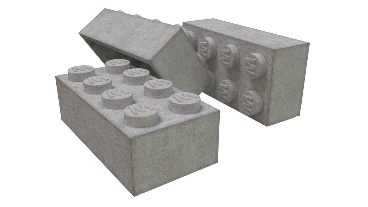 LEGO aus Beton, proof of concept