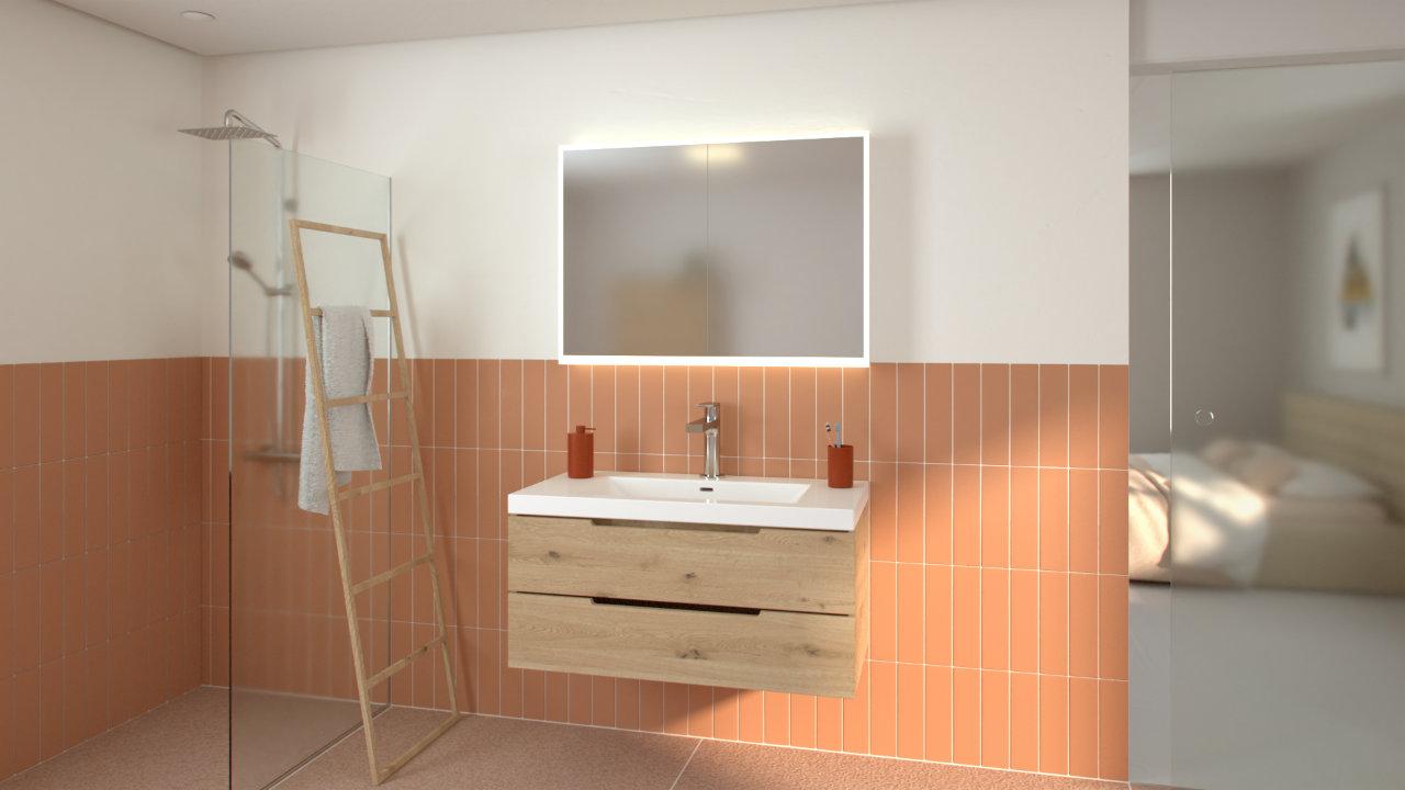 Spiegelschrank Visualisierung für KELLER Spiegelschränke