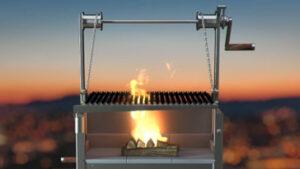 azado grill Feuer